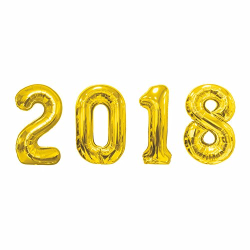 Best Buy! GOER 42 Inch Gold 2018 Number Foil Balloons,2018 Graduation Decorations New Year Eve Festi...