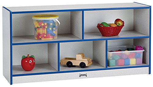 rainbow accents 0324JCWW003 Toddler Single Mobile Storage Unit, Blue