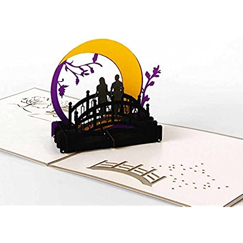 MADE4U Kirigami Papercraft 3D Pop Up Card Anniversary Baby Birthday Easter Halloween Mother's Day New Home New Sales