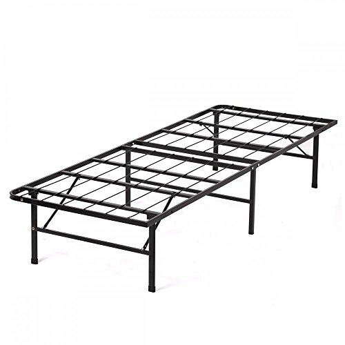 New Modern Bi-Fold Twin Folding Platform Metal Bed Frame Mattress - Frame Metal Folding
