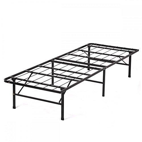 New Modern Bi-Fold Twin Folding Platform Metal Bed Frame Mattress - Folding Frame Metal