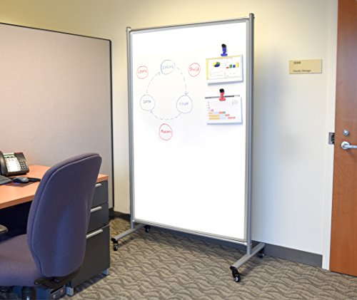 Mobile Magnetic Whiteboard Room Divider Photo #4