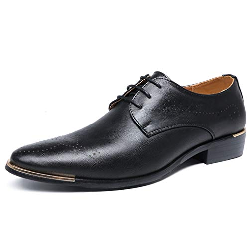 - Starttwin Men's Oxfords Shoes Casual Soft Breathable Business Formal Dress Shoes