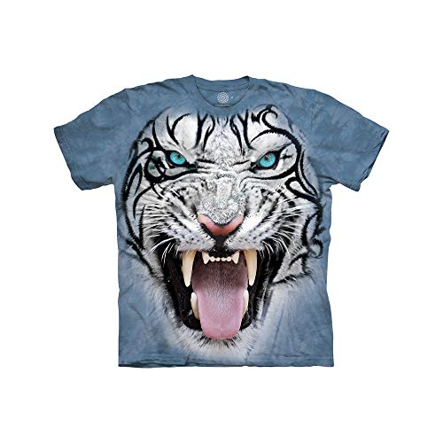 The Mountain Bf Tribal White Tiger Child T-Shirt, Blue, Large