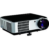 Inland HD High Lumen Digital Projector , Black & Silver (05549)