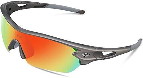TOREGE Polarized Sunglasses Interchangeable Baseball product image