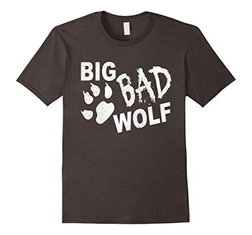 Mens Big Bad Wolf Paw Distressed White Funny Novelty T Shirt 3XL Asphalt -