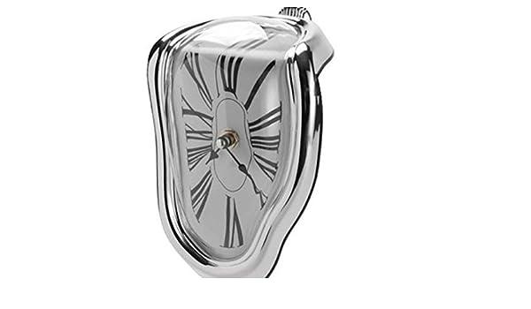 Amazon.com: China Excellent goods store Creative Block Twisting Clock Digital Retro Distortion Irregular clock Dali Melting Clock: Home & Kitchen