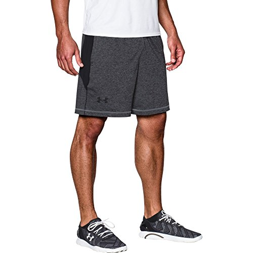 "Under Armour Men's Raid Printed 8"" Shorts, Steel/Black, Small"