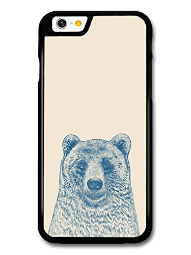 Cool Cute Funny Bear Illustration in Blue Hand Drawn Style case for iPhone 6 6S