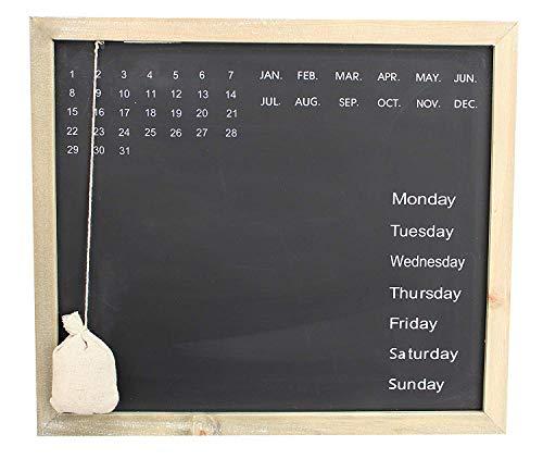 (Royal Brands Chalkboard Calendar Wood Frame Chalk Board Daily Message Wall Calendar Decorative Rustic Look Family Blackboard Task Planner Home Office or Classroom (Rectangle))
