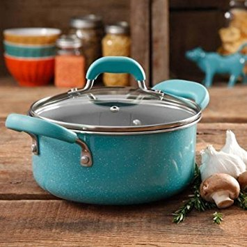 The Pioneer Woman Vintage Speckle 3-Quart Soup/Chili Casserole with Lid, Turquoise/Blue by The Pioneer Woman