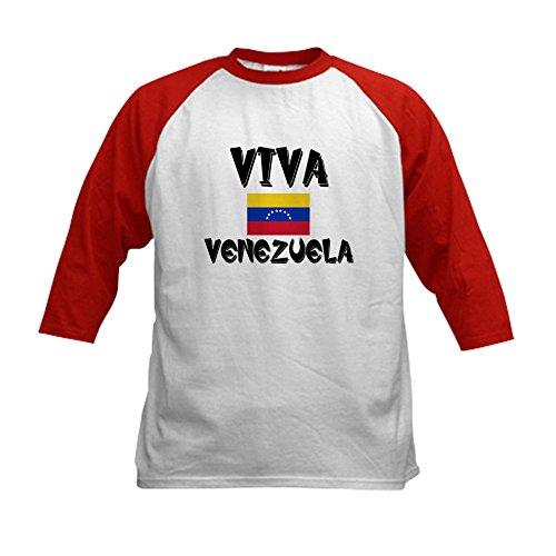 CafePress - Viva Venezuela Kids Baseball Jersey - Kids Cotto