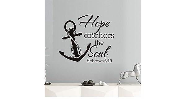 Ponana Citas De Hope Anchors The Soul Hebrews Vinilo Pegatinas De ...