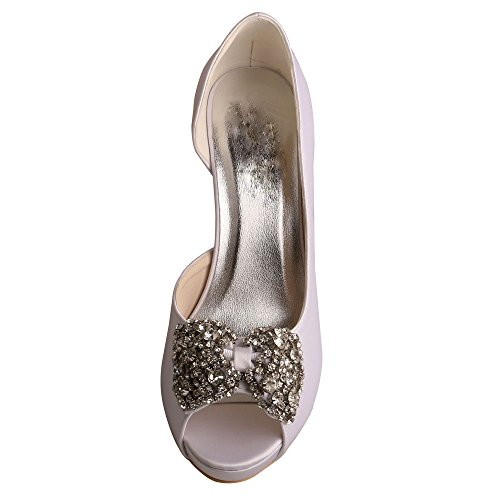D'Orsay Shoes Peep Wedopus MW54X Platform Wedding Heel Bows Satin Toe High 536White Bridal RRTwq0Px