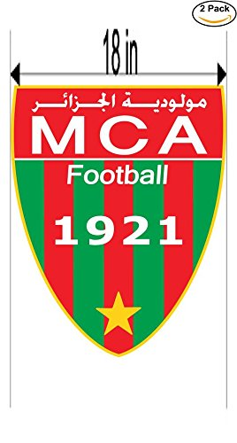 fan products of Mouloudia Club Alger Algeria Soccer Football Club FC 2 Stickers Car Bumper Window Sticker Decal Huge 18 inches