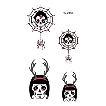 Halloween luminoso tatuaje fantasma para niños falso tatuaje bruja ...