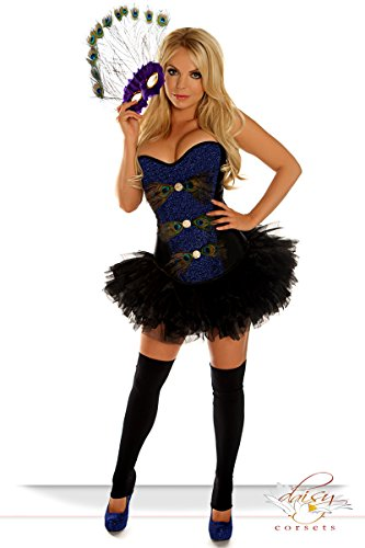 Daisy Corsets 3 PC Sexy Peacock Costume Xlarge (Sexy Peacock Costume)