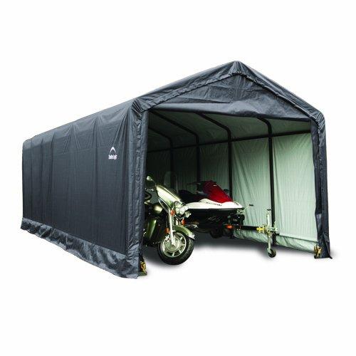ShelterLogic Shelter Tube Storage Shelter, 12 x 20 x 11-Feet, Grey by ShelterLogic