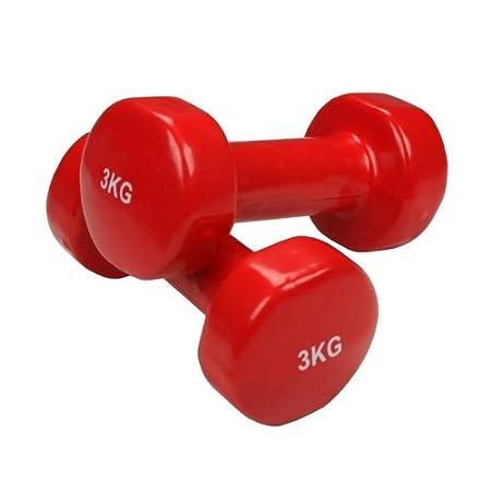 BB Sport 2 x pesas de vinilo 0,5 - 5 kg mancuernas set en colores ...