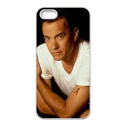 Tom Hanks coque iPhone 4 4S cellulaire cas coque de téléphone cas blanche couverture de téléphone portable EOKXLLNCD20461