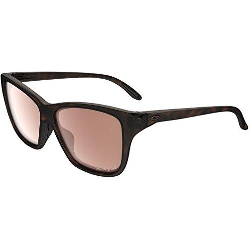 Oakley Women's Hold On OO9298-07 Polarized Iridium Cateye Sunglasses, Tortoise, 58 - Hold Polarized Out