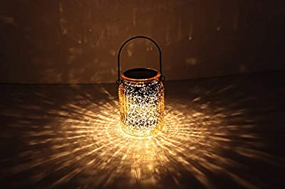 Solar Mercury Glass Mason Jars - 2 Pack SUNWIND Solar Rotating Table Lights with Color Changing Mode and White Mode Outdoor Hanging Lights for Garden, Patio, Home Decoration