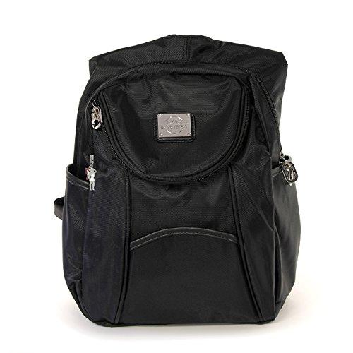 BAG STREET Unisex klein Rucksack Bag Street Schulter Tasche Kinder Damen Nylon Reise Urlaub Schwarz