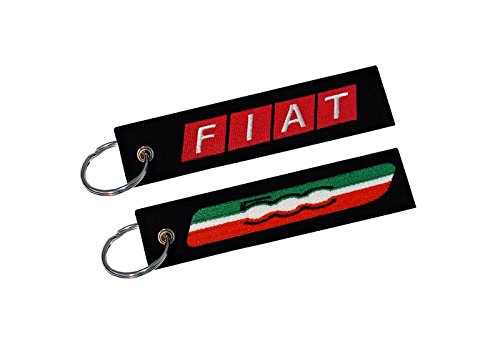 Fiat 500 Double Sided Key Ring