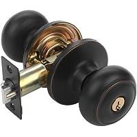 Dynasty Hardware SIE-00-12P Sierra Keyed Entry Door Knob, Aged Oil Rubbed Bronze by Dynasty Hardware