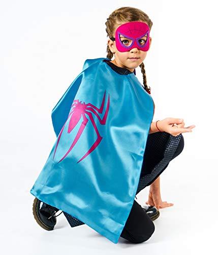 Jouets Qui Cadeaux Masques Filles Et Brille Héros Deguisement Spiderman Garçons 3 Le Pour Super 4 Enfants D'anniversaire Noir Costumes De – Dans Logo Capes PqUXOO
