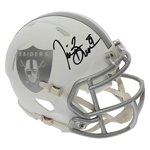 (Tim Brown Autographed Signed Oakland Raiders Alternate ICE Speed Mini Helmet - Certified)