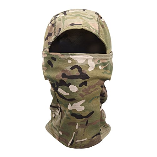 Tactical Hood - OneTigris Tactical Hood Headwear Balaclavas Full Face Mask (Camo)
