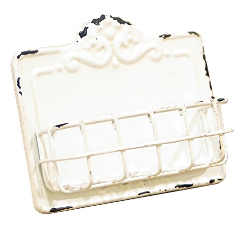- Vintage Style Antique White Business Card Holder
