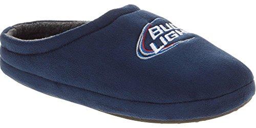 Budweiser Men's Bud Light Slippers (7-8 D(M) US, Blue)