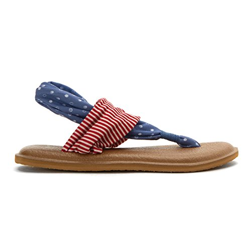 2 Dots Stripes Sanuk Prints Yoga Sling Sandals America Yqwr0ErxR1