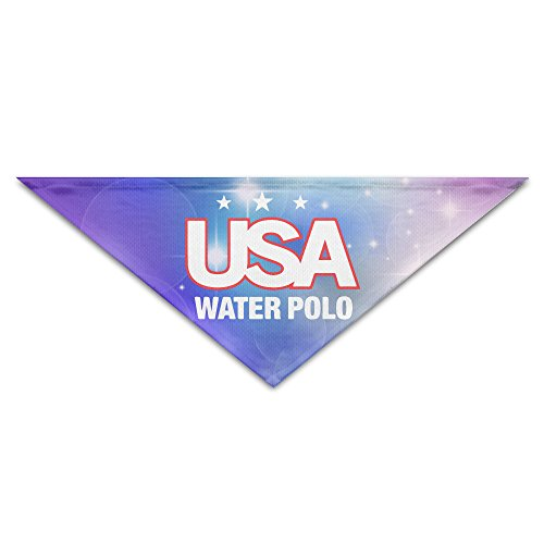Pet Bandanas - Personalized Usa Water Polo Pet Bandana Scarf - Triangle Scarf Collar Neckerchief For Dog Cat