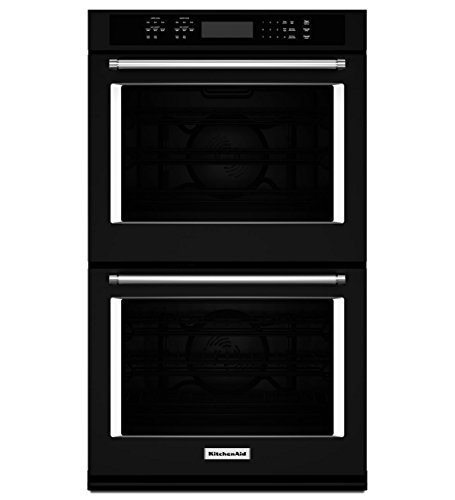 "KitchenAid KODE500EBL 30"" Double Electric Wall Oven with ..."