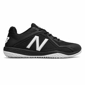 New Balance Men's T4040v4 Turf Baseball Shoe, Black, 12 D US