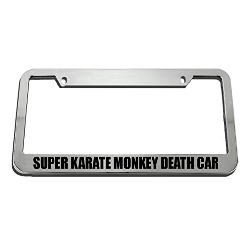 Jesspad Speedy Pros Super Karate Monkey Death Metal Cooper License Plate Frame Cover Gills - 12