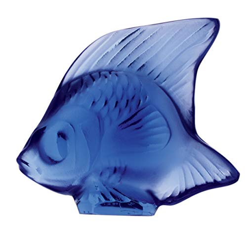 Fish Lalique Crystal - Lalique Crystal Fish Sapphire 30003