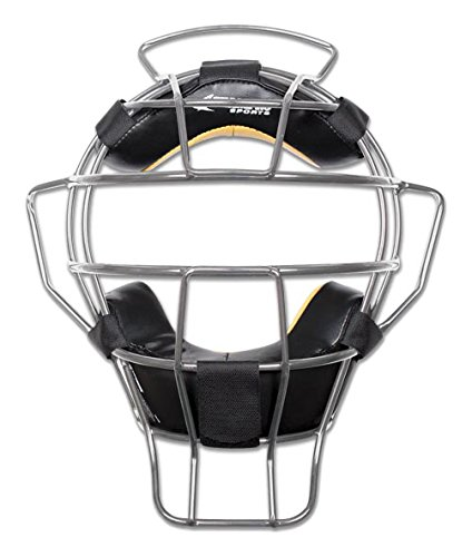 CHAMPRO Sports Umpire Mask - lightweight - 23 oz, Silver by CHAMPRO
