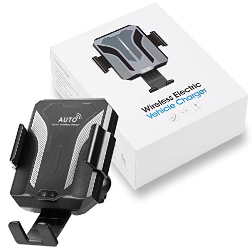 NIECOR Wireless Car Charge Mount,10W Qi Fast Charging,Car Air Vent Mount Phone Holder with Infrared Sensor Compatible with iPhone 8/8Plus/X/XS/XR/XS MAX Samsung Galaxy S6/7/8/9/Note 8/9 and More ()