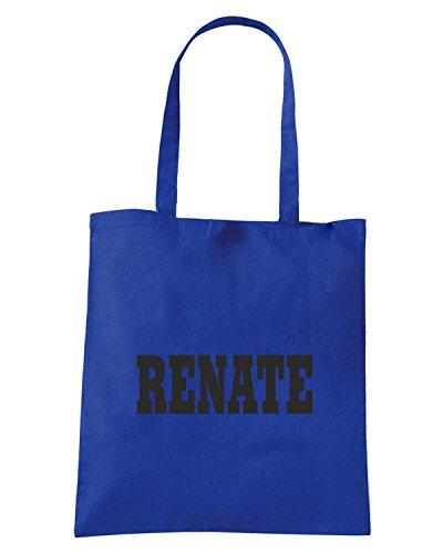 T-Shirtshock - Bolsa para la compra WC0999 RENATE ITALIA CITTA STEMMA LOGO Azul Real
