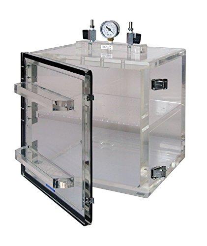 Vacuum Desiccator Cabinet with Swing Door Clear Acrylic, 12x12x12 in. Perforated Shelf & Vacuum Gauge: Amazon.com: Industrial & Scientific