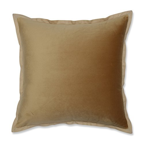 Pillow Perfect Velvet Flange Umber Gold 18-inch Throw Pillow [並行輸入品] B07RCFD5SL