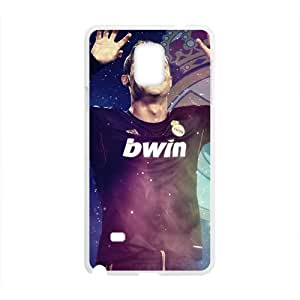 Soccer Real Madrid Cristiano Ronaldo football White Phone Case for Samsung Galaxy Note4
