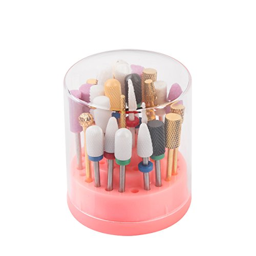 Acrylic Drill Bits (Makartt Nail Drill Bits Holder Stand Displayer Organizer Container 48 Holes Manicure Tools Acrylic)