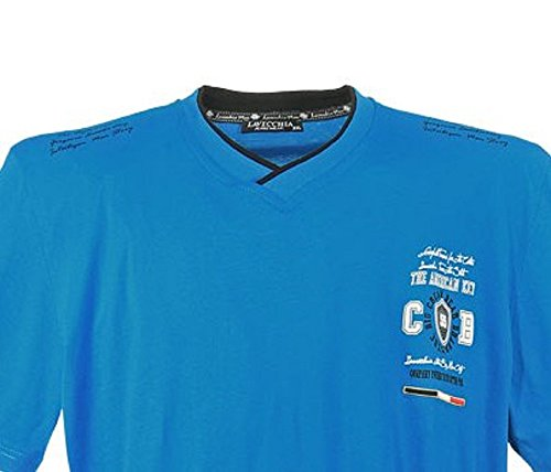 "3103 Übergröße!! Herren""LAVECCHIA"" V-Neck T-Shirt in Türkisblau Gr. 3-7XL"