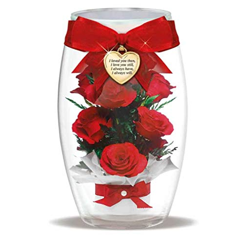The Danbury Mint Miracle Roses w/Heart Charm - 12 Preserved Real Roses - Unique Forever Roses - Romantic Gifts for Her #4538-006 from The Danbury Mint